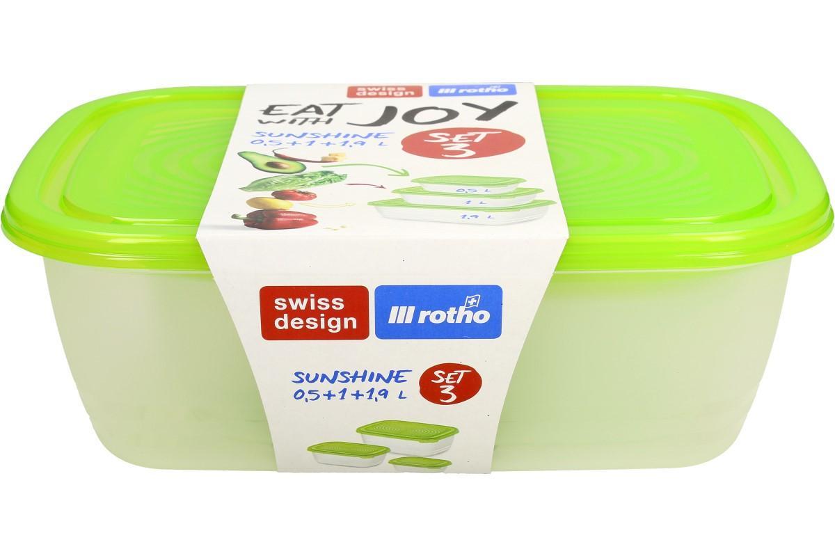 Foto 7 - Sunshine sada boxů na potraviny 3 kusy zelené