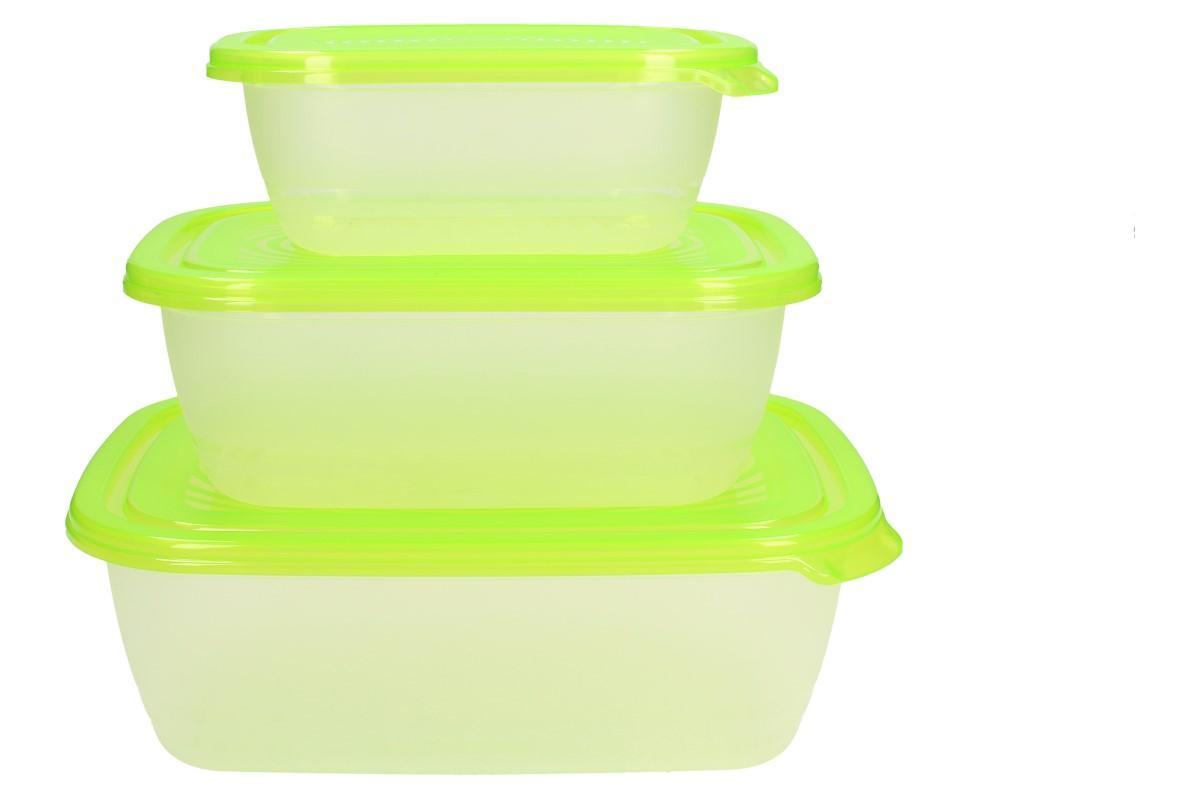 Foto 6 - Sunshine sada boxů na potraviny 3 kusy zelené