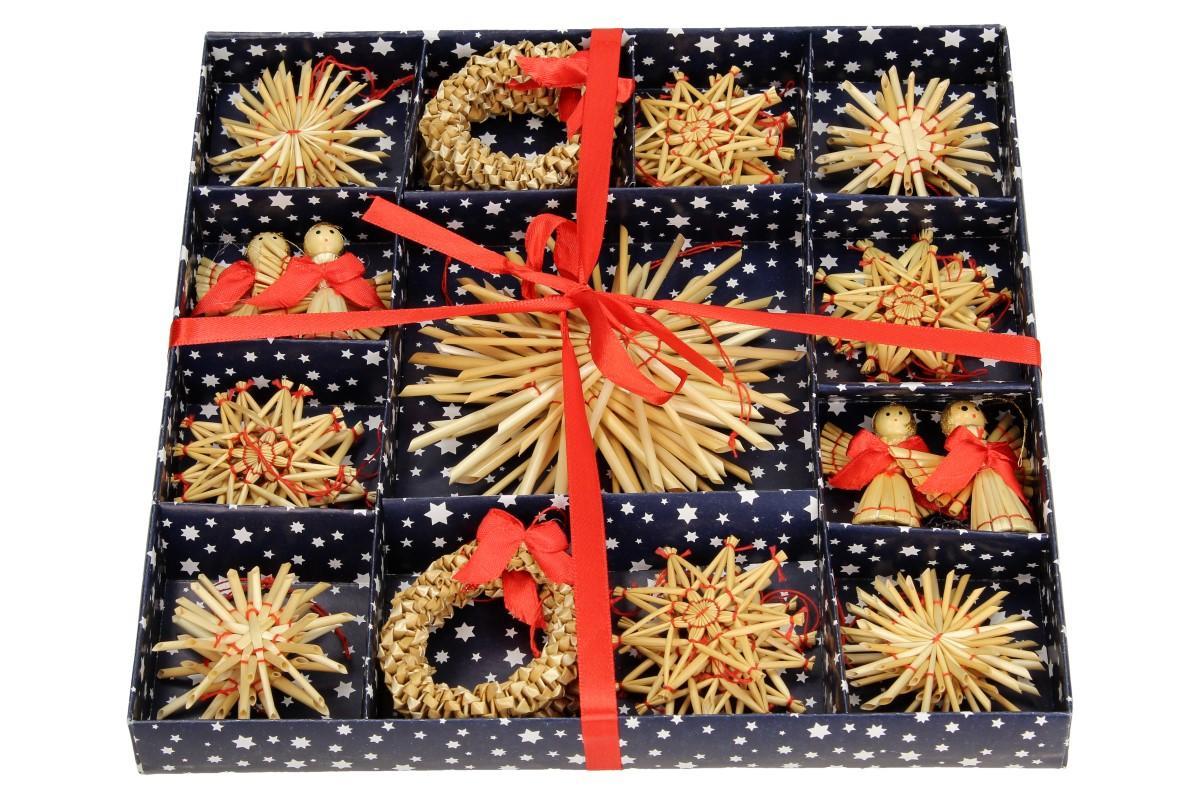 Foto 10 - Vánoční slaměné dekorace na stromeček 26 kusů
