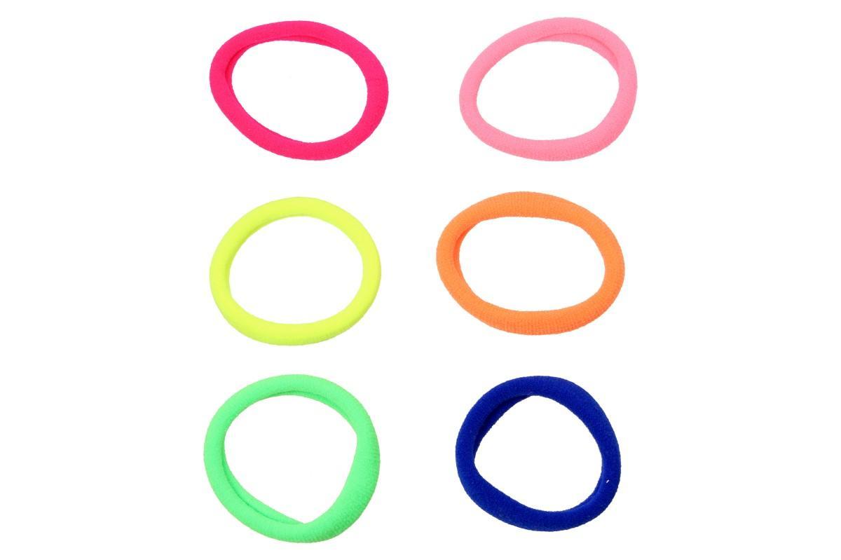 Foto 6 - Pevné barevné gumičky do vlasů Sada 6 kusů