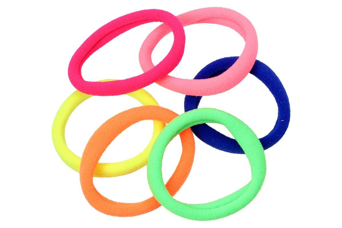 Foto 7 - Pevné barevné gumičky do vlasů Sada 6 kusů