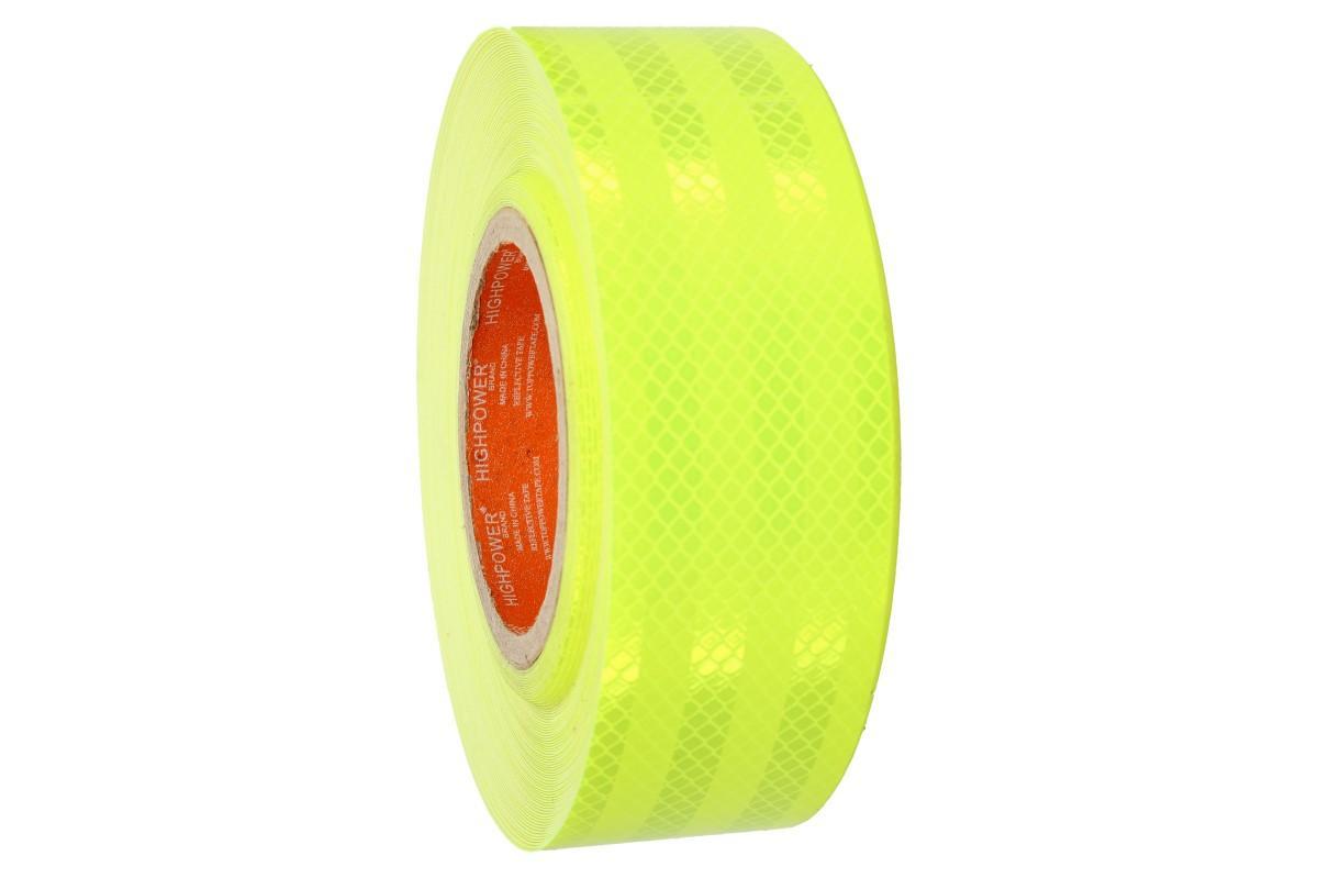Foto 7 - Reflexní lepící páska 25m neonová žlutá