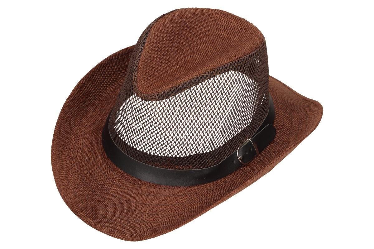 Foto 7 - Letní klobouk s děrováním a páskem
