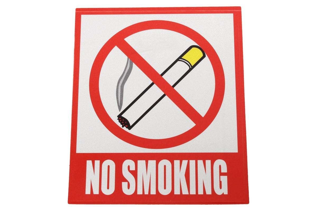 Foto 5 - Reflexní samolepka NO SMOKING 12 x 10,5 cm