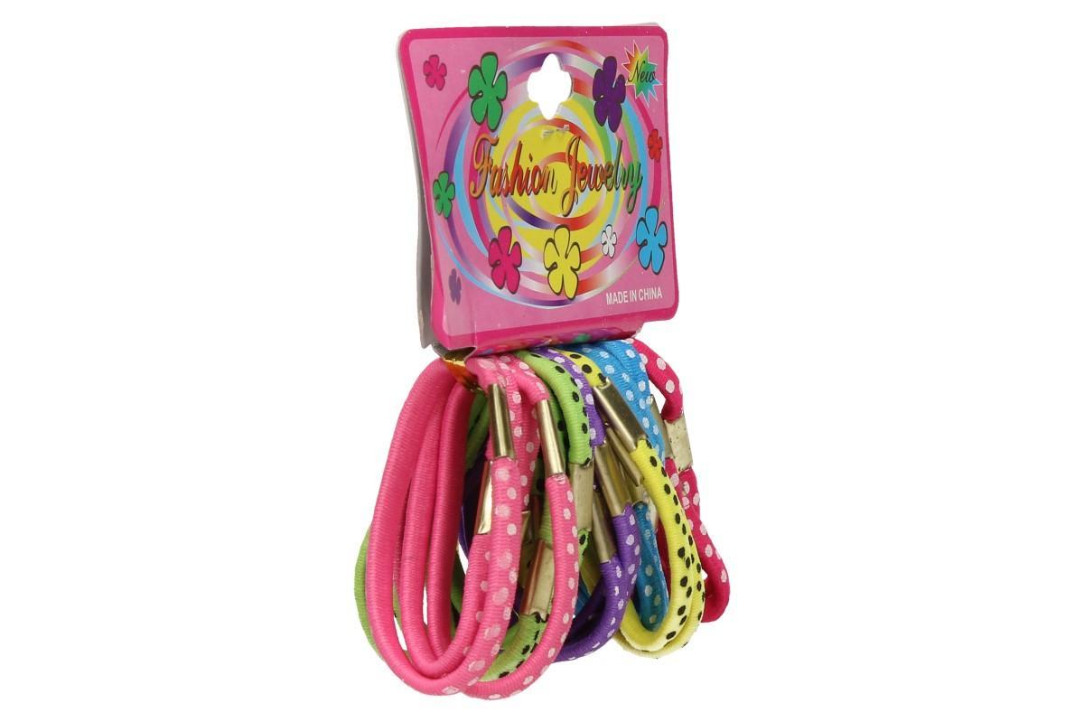 Foto 7 - Sada různobarevných gumiček do vlasů 24ks