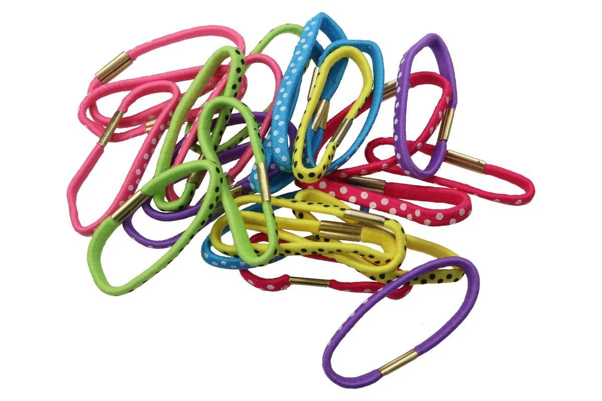 Foto 9 - Sada různobarevných gumiček do vlasů 24ks