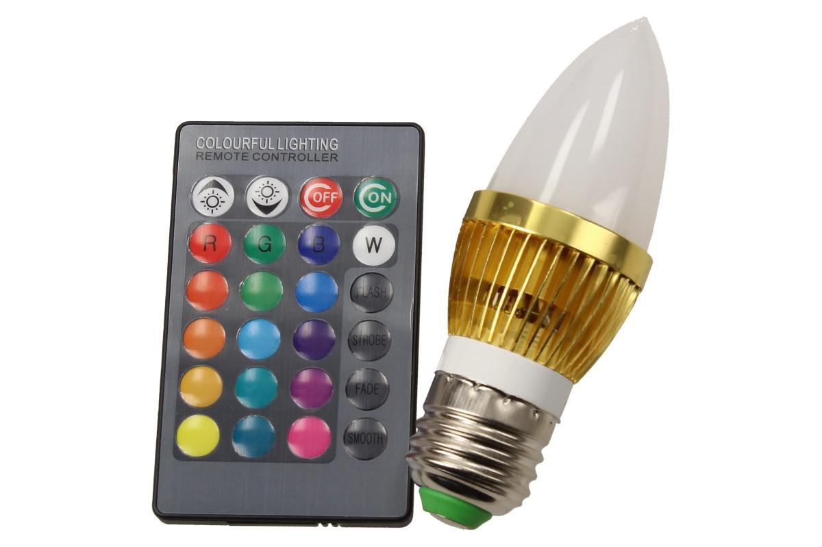 Foto 19 - LED úsporná žárovka RGB na dálkové ovládání 3W