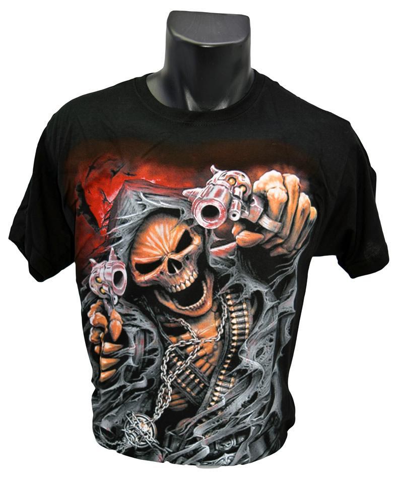 Foto 3 - Tričko s kostlivcem - pistole