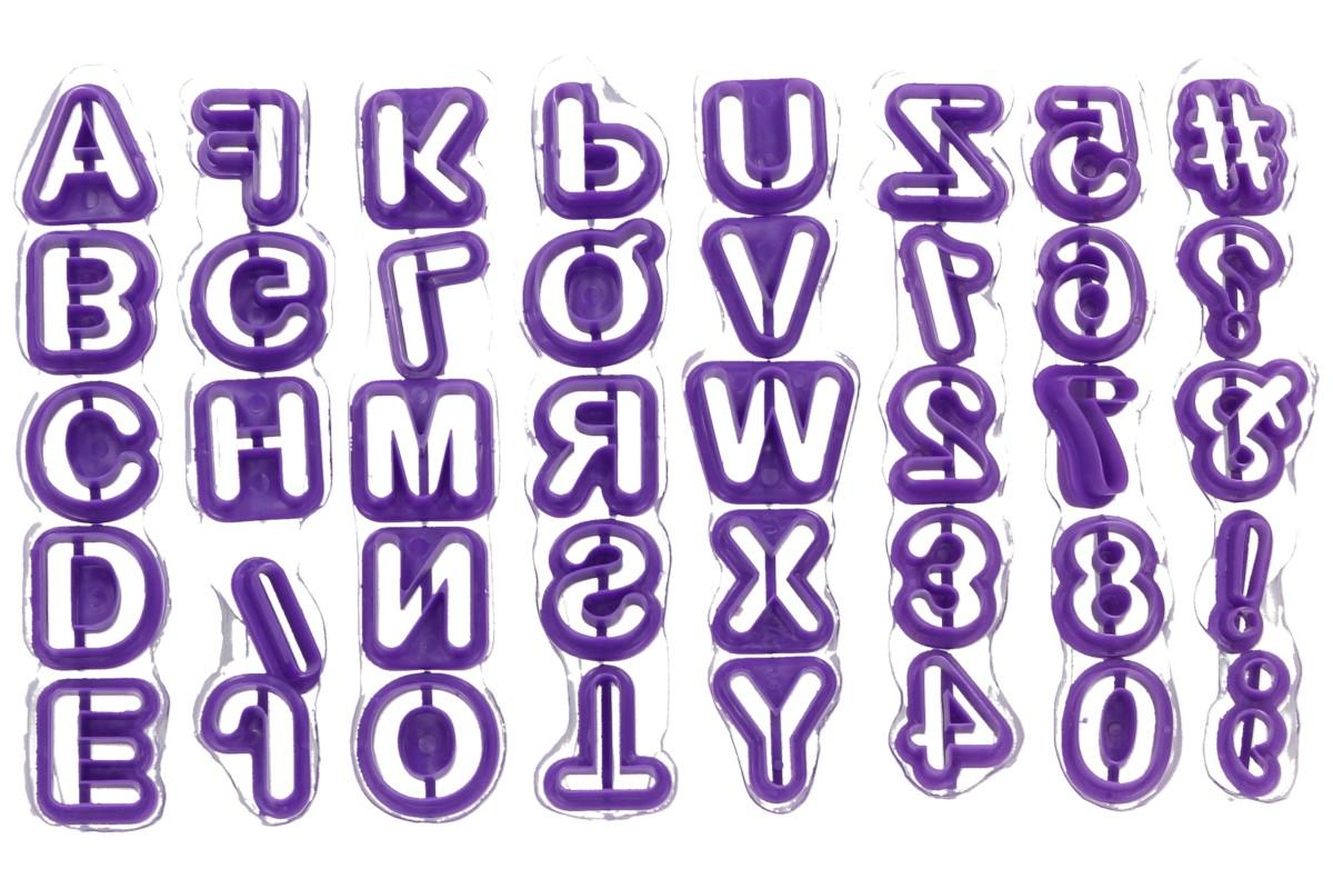 Foto 11 - Vykrajovátka písmenka a číslice 40 kusů