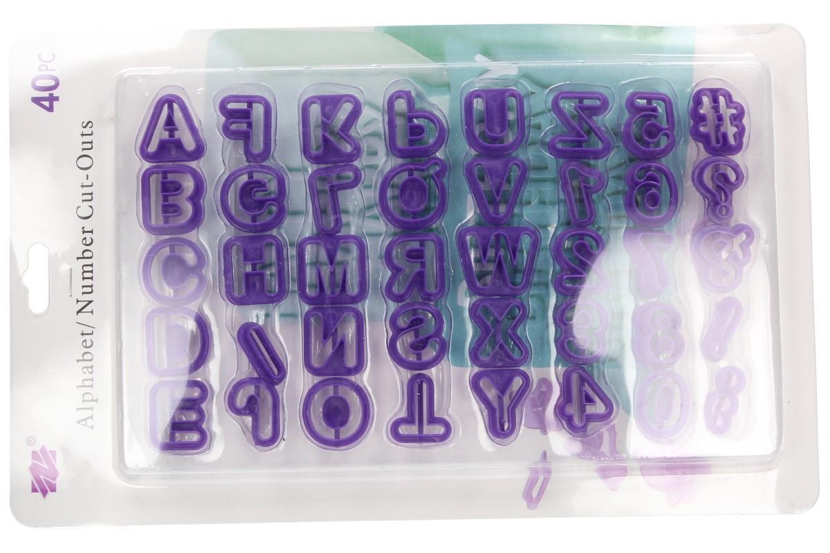 Foto 12 - Vykrajovátka písmenka a číslice 40 kusů