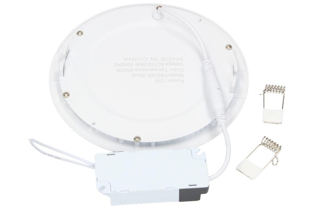 Foto 5 - LED stropní panel zápustný 12W kulatý