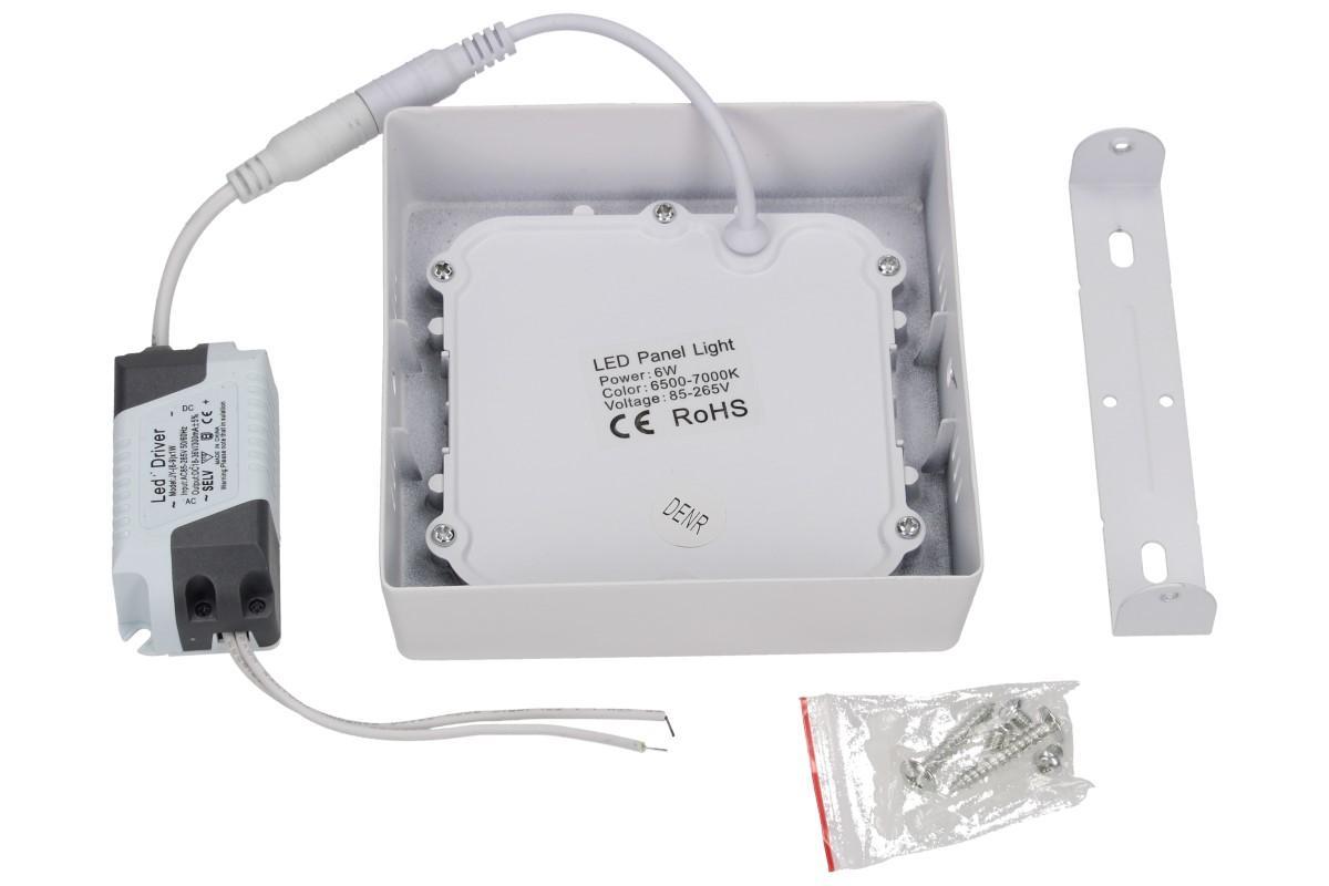 Foto 5 - LED stropní panel 6W nezápustný čtvercový