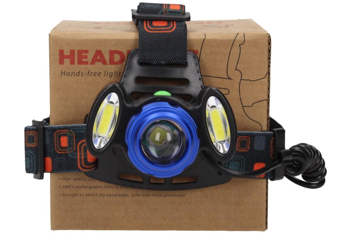 Foto 16 - Nabíjecí výkonná čelovka HEADLIGHT se třemi světlomety