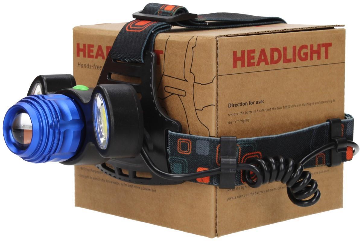 Foto 17 - Nabíjecí výkonná čelovka HEADLIGHT se třemi světlomety