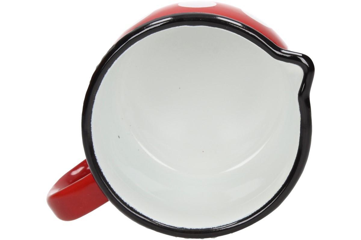 Foto 16 - Hrnek smalt červený puntík BELLY 10 CM