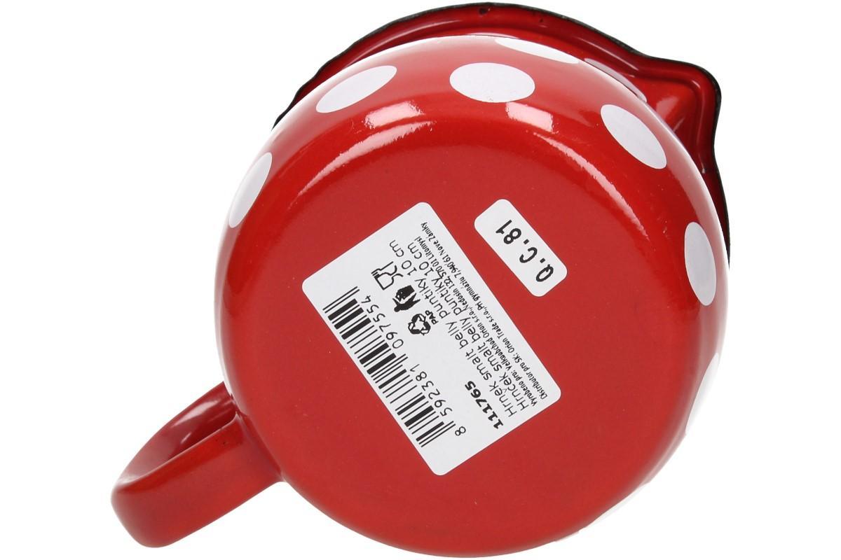 Foto 17 - Hrnek smalt červený puntík BELLY 10 CM