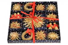 Foto 9 - Vánoční slaměné dekorace na stromeček 26 kusů