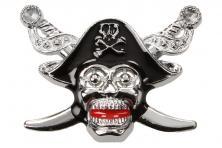 Foto 4 - Kovová samolepka pirátská lebka