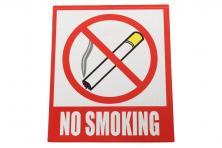 Foto 4 - Reflexní samolepka NO SMOKING 12 x 10,5 cm