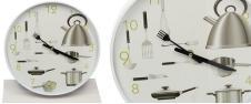 Kuchyňské hodiny nástěnné Vidlička a Nůž