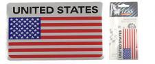 Kovová samolepka americká vlajka 8cm x 5cm