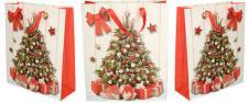 Stromeček s dárky Vánoční dárková taška 32x26 cm