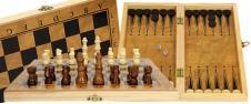 Šachový kufřík s hrací deskou na šachy a dámu malý