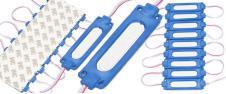 Nalepovací silná oválná LED dioda modrá