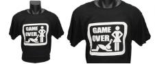 Tričko Game Over - bílý nápis
