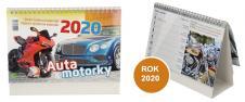 Kalendář 2020 Auta a Motorky 22 x 17 cm