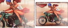 Plechová cedule Motorcycles (25x33 cm)