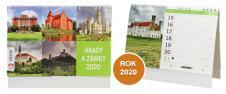 Kalendář 2020 Hrady a Zámky 22 x 17 cm