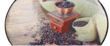 Prostírání na stůl oválné 40x28 cm Mlýnek a káva