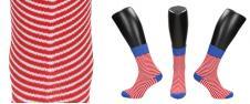 Ponožky červeno-bílé proužky