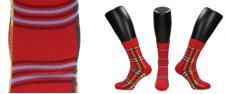 Ponožky kárové červené