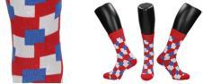 Ponožky s barevnými čtverci