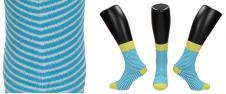 Ponožky modro - bílé proužky