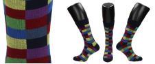 Ponožky barevná šachovnice
