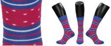 Ponožky růžovo - modré proužky