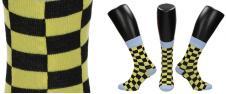 Ponožky žluto - černá šachovnice