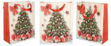 Dárková vánoční taška stromek 23x18 cm