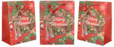 Dárková vánoční taška Merry Christmas 23x18 cm
