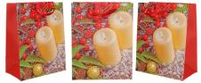 Dárková vánoční taška svíčky 23x18 cm