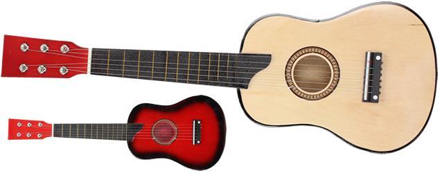 Kytara dřevěná, lakovaná 63 cm
