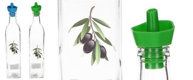 Skleněná lahev s dávkovačem na olej, ocet 0,5L