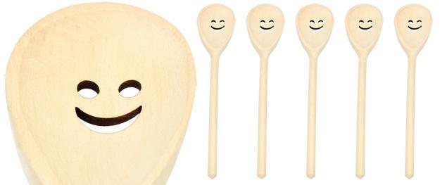 Dřevěná vařečka s úsměvem 30 cm