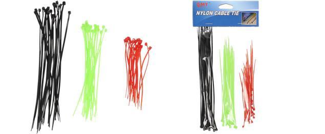 Stahovací pásky barevné 60 ks