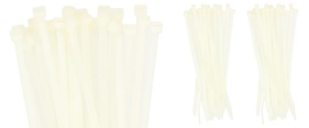 Stahovací pásky bílé 5x200mm