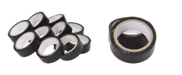 Izolační samolepící páska černá sada 10 ks