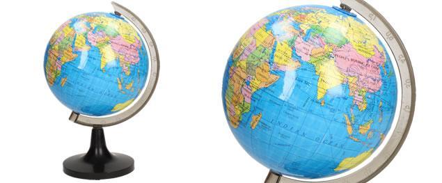 Dětský globus s měřítkem